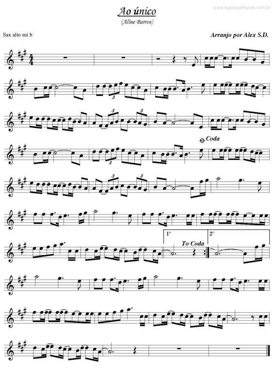 partituras ao 218 nico aline barros sem cifra