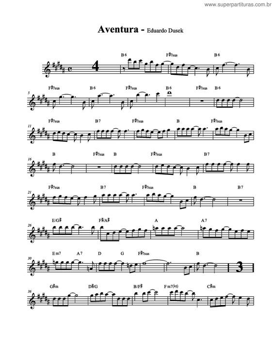 partituras aventura v 2 eduardo dusek cifra