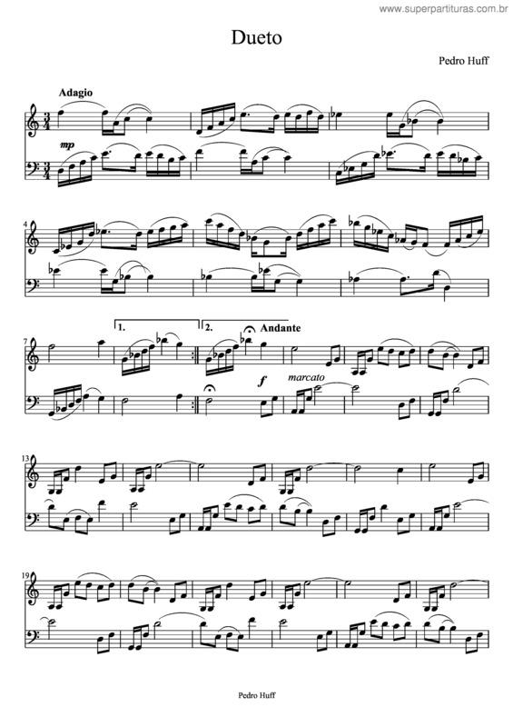 Super Partituras - Dueto (Pedro Huff), com cifra