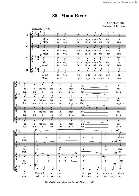 moon river piano mercuzio pdf