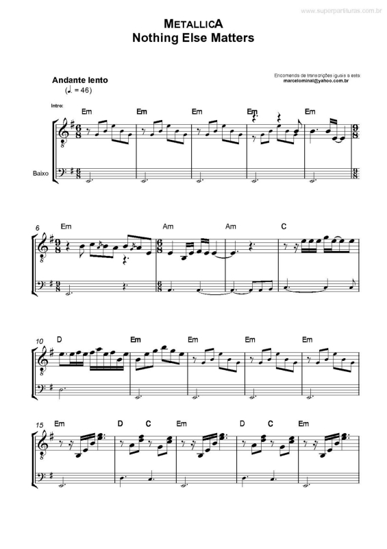 Piano piano tabs nothing else matters : METALLICA NOTHING ELSE MATTERS PIANO SHEET PDF - Wroc?awski ...