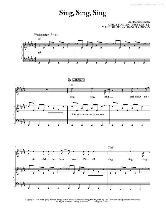 Sing Sing Sing By Chris Tomlin