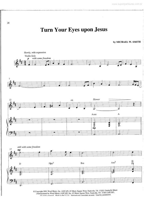 turn your eyes upon jesus sheet music pdf
